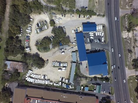 Austin Boats And Motors by Drone Aerial Overhead Yelp