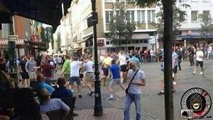 Fight between Newcastle and West Ham fans in Dusseldorf 01 ...