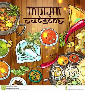 Indian Food Stock Vector - Image: 49714717