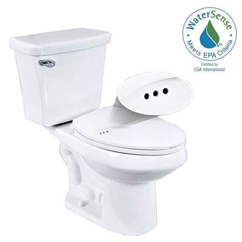penguin toilets 2 1 28 gpf single flush elongated toilet with overflow protection in white