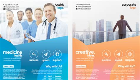 25 Free Business Flyer Templates For Photoshop