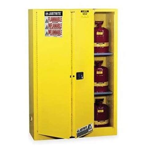 justrite sure grip safety cabinet for flammables 60