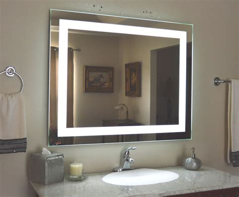 lighted bathroom vanity make up mirror led lighted wall mounted mam84032 40x32 ebay