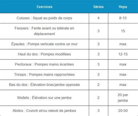 programme de musculation au poids de corps sans mat 233 riel