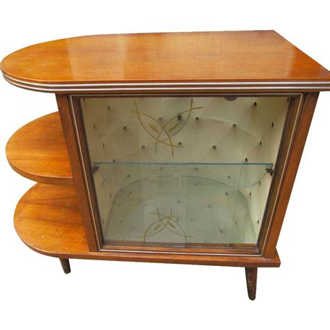 deco 1920 s walnut drinks bar cocktail liquor cabinet with l stand home garden