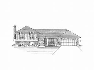 Santana Split-Level Tudor Home Plan 091D-0039 | House ...