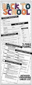 Back to School {Forms and Procedure Check List} | Fourth ...