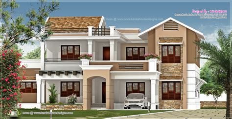 R It Designers (home Design In Kannur) : New Villa Exterior Design In 3740 Sq.feet