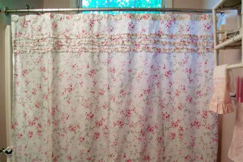 Blue And White Shabby Chic Shower Curtain