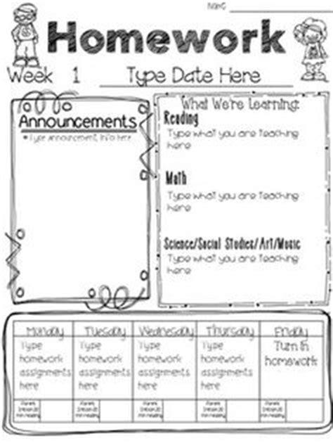 Weekly Homework Freebie  Teaching Tools  Pinterest  Homework, School And Teacher
