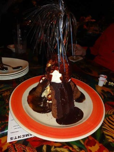 volcano dessert picture of rainforest cafe disney animal kingdom orlando tripadvisor