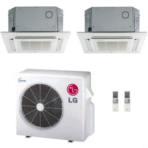 lg 24k btu multi f dual zone ceiling cassette ductless mini split heat syst