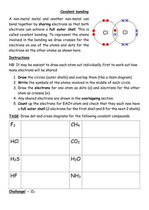 Drawing Dot And Cross Covalent Bonding Diagramsdocx