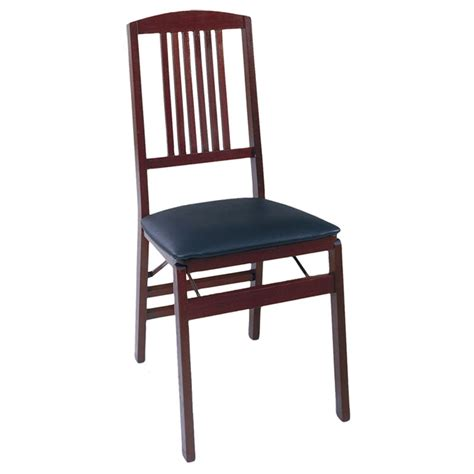 cosco bridgeport collection wood vinyl folding chair set