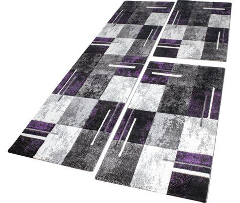descente de lit tapis marbr 233 avec motifs 192 carreaux violet gris cr 232 me 3 pcs tous les produits