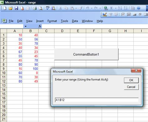 excel vba selecting a variable range of cells