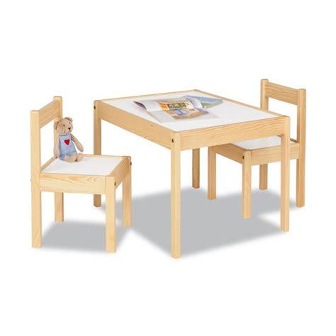 table et chaises en bois pinolino jeujouethique