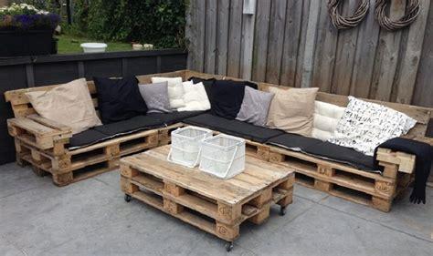 comment fabriquer salon de jardin en palettes en bois