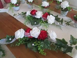 Deko Für Hochzeit : tischdeko hochzeit ehrenplatz deko rosen foamrosen taufe kommunion rot weiss ebay ~ Markanthonyermac.com Haus und Dekorationen