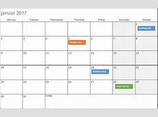 2017 calendar template excel 2019 2018 Calendar