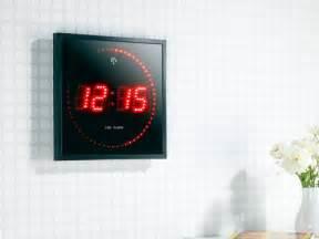 horloge murale avec chiffre et secondes led ou bleu pearl fr