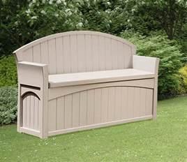 Suncast Patio Storage Seat by Suncast Patio Garden Outdoor Bench With 50 Gallon Storage