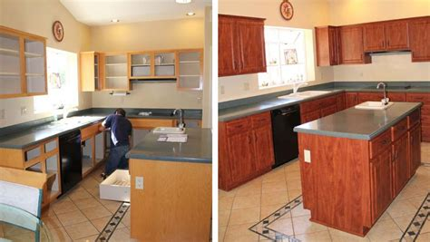 Cabinet Refacing Before And After Log Home Floor Plans And Prices Victorian Custom Ranch Decor Atlanta Gothic House Kitchen Faucet Discount Square With Wrap Around Porch