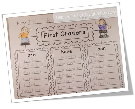 Teaching With Love And Laughter Kindergarten And First Grade Writing