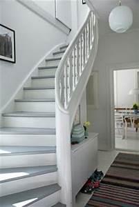 Treppenstufen Weiß Lackieren : treppe weiss mit holz naturbelassen pure flur pinterest treppe weiss und holz ~ Markanthonyermac.com Haus und Dekorationen