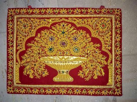 Indian Wall Carpet Zardozi Wall Carpet Wall Hanging Hand