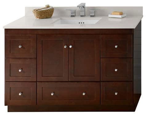 ronbow shaker solid wood 48 quot vanity set with ceramic sink