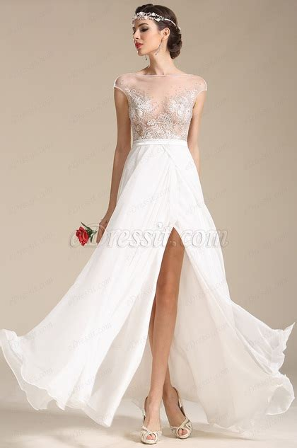 cap sleeves embroidery wedding dress prom dress 01151607