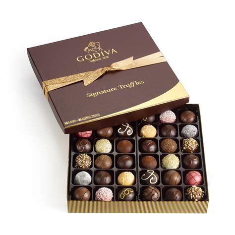 36 pc. Signature Chocolate Truffles Gift Box   Classic   GODIVA