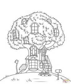The Berenstain Bears Christmas Tree by Free Tree House Coloring Pages Az Coloring Pages