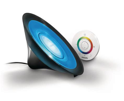 philips livingcolors aura led colour changing table l black remote 8w ebay