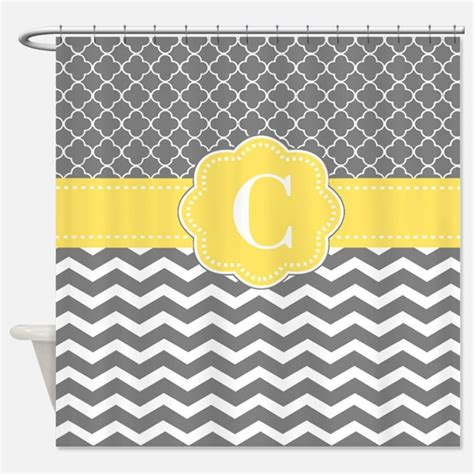 grey and yellow chevron bathroom accessories decor cafepress