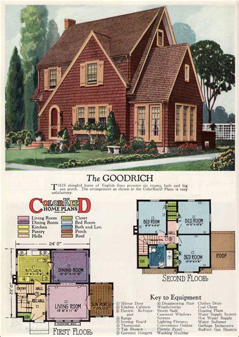 inspiring vintage house plans photo 1927 goodrich revival cottage william a