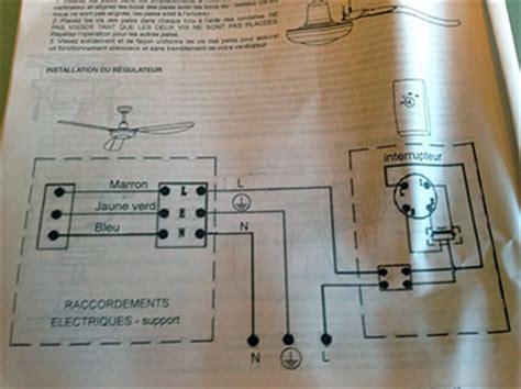 sch 233 ma branchement 233 lectrique commande murale sur va et vient ventilateur de plafond