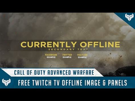 Twitch Notification Images Template Psd by Template Cod Ghosts Twitch Tv Overlays Easy To Use