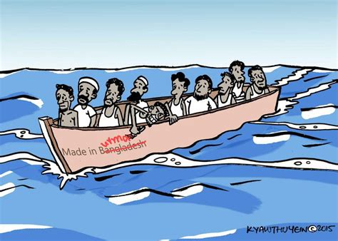 Cartoon Refugee Boat by Cartoon Movement Boat People Are Not From Myanmar