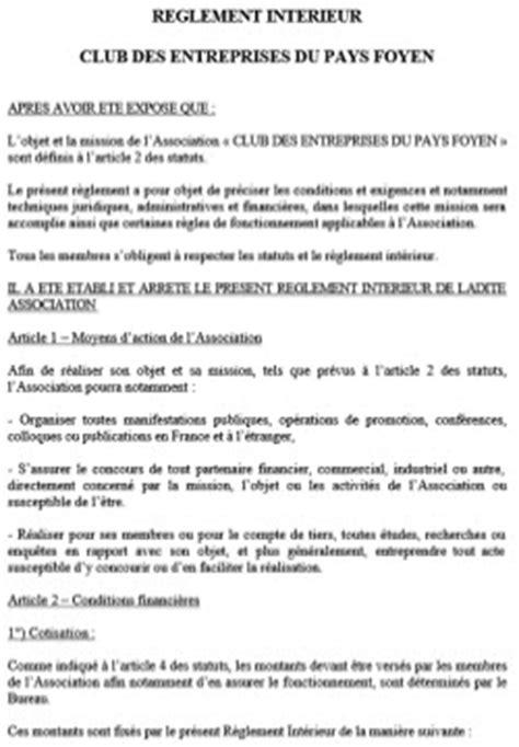 club des entreprises du pays foyen 187 statuts et r 232 glement int 233 rieur