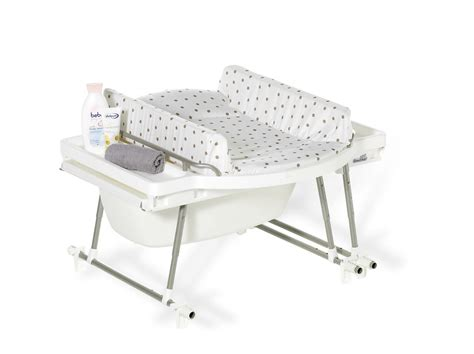 ensemble baignoire table langer aqualino geuther bambinou