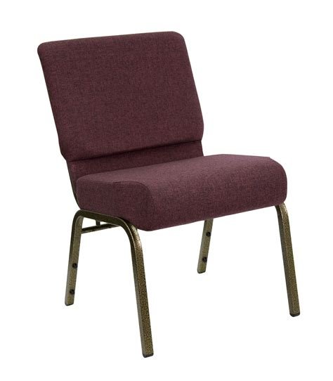 wide stacking series church chair with 4 inch thick