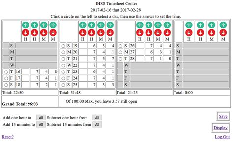Ihss Timesheet Calculator On Curezone Image Gallery