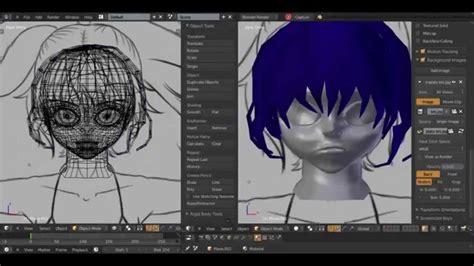 Speed Modeling 3d Anime Character In Blender 2.69