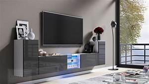Tv Lowboard Grau : kaufexpert tv lowboard galaxy grau hochglanz wei mdf design board hifi tisch beleuchtung ~ Markanthonyermac.com Haus und Dekorationen