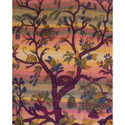 tenture indienne quot arbre de vie quot tgm018 tentures murales artisanales sur artiglobe