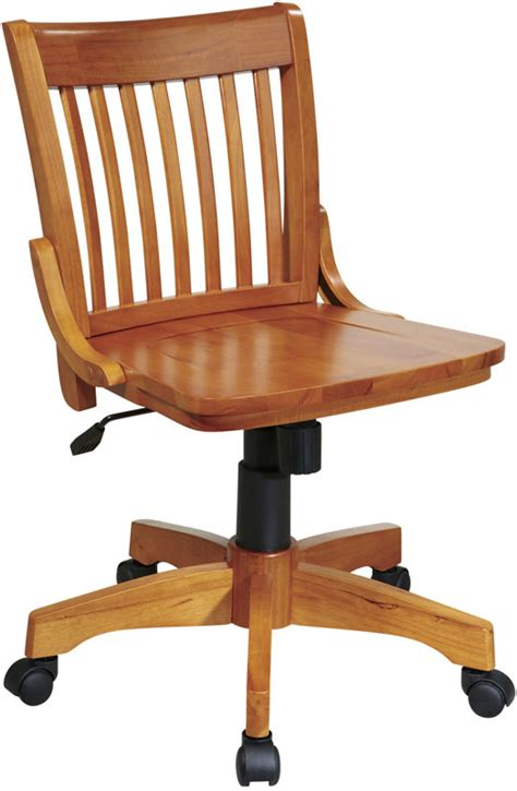 Armless Wood Bankers Chair by Osp Designs Deluxe Armless Wood Banker S Desk Chair With