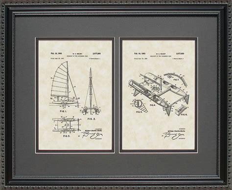 Catamaran Sailing Gifts by Catamaran Patent Art Wall Hanging Nautical Navy Gift
