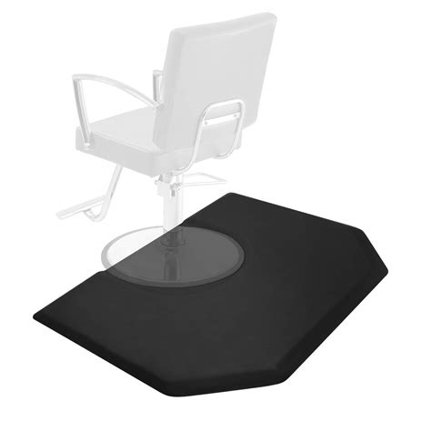 4 x 5 hexagonal anti fatigue salon barber chair floor mat